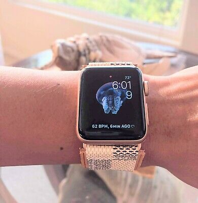 Handmade Upcycled Azur Apple watch band 42/44mm gold tone mono iwatch strap