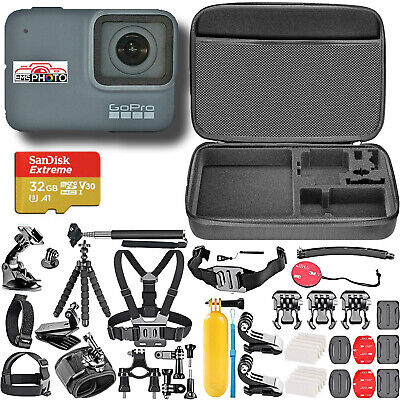 GoPro HERO7 SILVER HD 4k Waterproof Action camera With (40) Accessories and Case