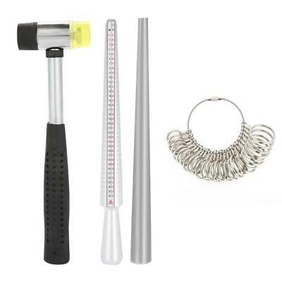 Ring Sizer Finger Sizing Measuring Stick Metal Rings Mandrel Jewelry Tools Kits