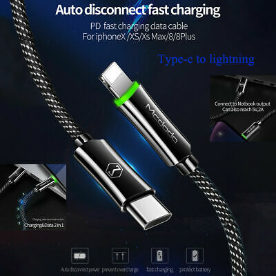 Mcdodo Auto Power Off USB-C Type-C to Lightning Cable Charger Cord iPhone 11 XS