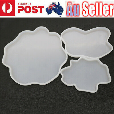 Agate Coaster Resin Casting Mold Silicone Jewelry Making Epoxy Mould Craft Tool