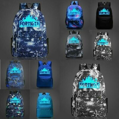 20L Galaxy Fortnite Battle Royale Rucksack Boys Girls GLOW IN DARK School Bag AU