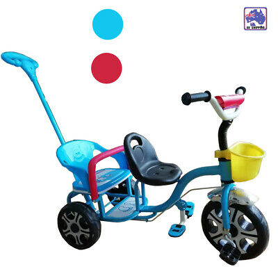 Kids Tricycle Tandem Push Trike Bike Pedal Children Ride on Toy 3 Wheels BHR0311