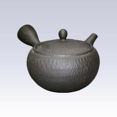 Tokoname Kyusu teapot - ISSIN - Black - 400cc/ml - Refreshing steel net
