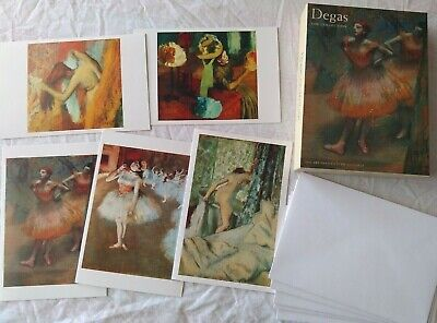 Art Institute Of Chicago DEGAS The Collection 20 Notecards Envelope Box Set Card