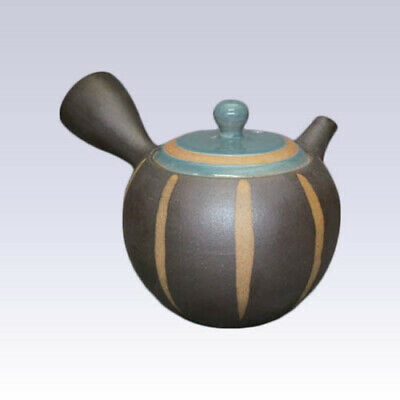 Tokoname Kyusu teapot - ISSIN - Blue Tokusa - 300cc/ml - Refreshing steel net