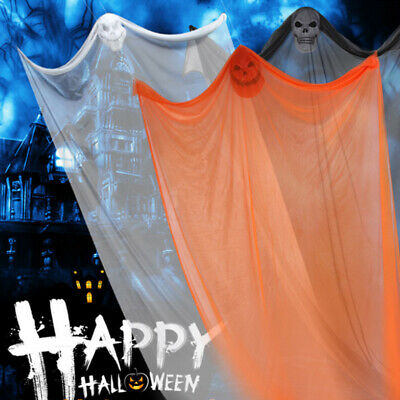 Halloween Ghost Hanging Decorations Scary Creepy Indoor/Outdoor Decor 10.8x6.5ft