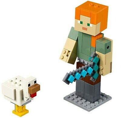 Lego Minecraft 21149 Alex BigFig with Chicken