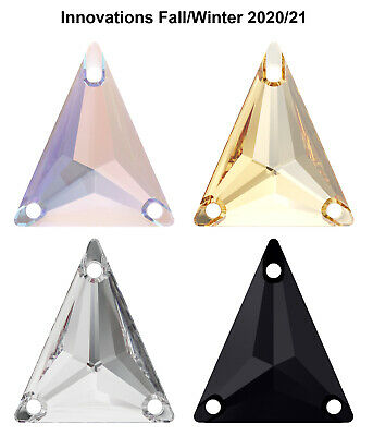 NEW Genuine SWAROVSKI 3271 Slim Triangle Sew-On Stones Crystals * Many Colors