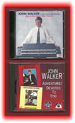 John Walker Organist 2 CD's Electronic Organ 🎹 Keyboards  🎼 Music ♬♬