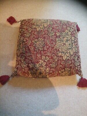 Laura Ashlry Large Botanical Tapestry Style Cushion With Feather Filled Inner...