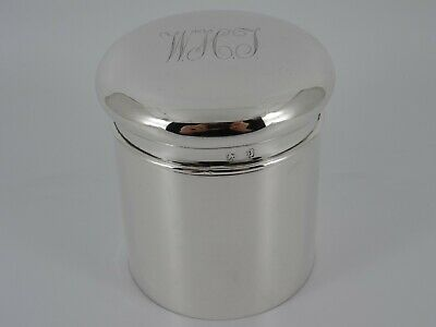 Lovely George V Solid Sterling Silver Tea Caddy Canister Box Birmingham 1914