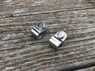 Schwinn Stingray Krate Sissy Bar Clamps Bolts Nuts RECHROMED *Nice*