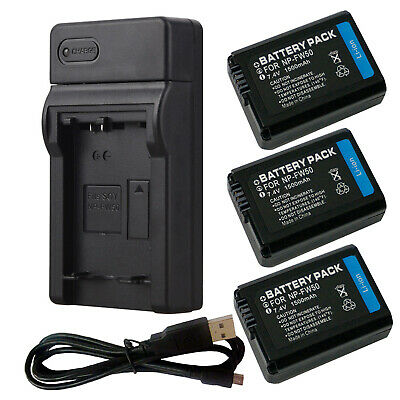 Battery / Charger NP-FW50 For Sony ALPHA 3000 6000 SLT-A55 A33 A37 NPFW50