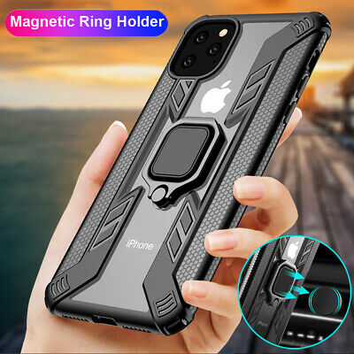 Hyrbid Bumper Magnetic Ring Stand Armor Case Cover for iPhone 11 Pro Max X XS XR