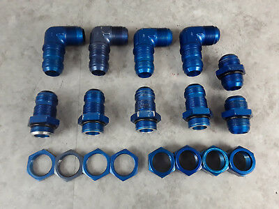 "Job Lot Of 1-5/16"" AN16 JIC Blue Aluminium Hydraulic Air Oil Fittings *"