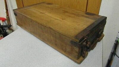 Vintage Pine Secure Box Chest - Very Well Made with Iron Fittings