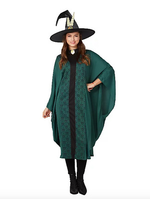Adult Harry Potter Professor McGonagall Fancy Dress Costume One Size New
