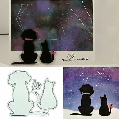 Dog Cat DIY Metal Cutting Dies Stencil Scrapbooking Photo Album Paper Card Craft