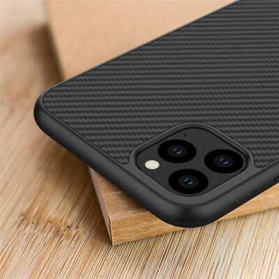 For iPhone 11 Pro Max Xs Shockproof Slim Synthetic Carbon Fiber Matte Case Cover