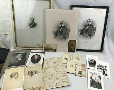 Great Orig. lot c1850's Caleb Cushing US Congress Newburyport MA CDV Engravings