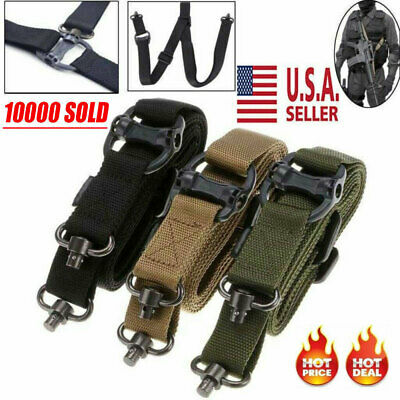 "Adjust Retro Tactical Detach QD 1 or 2 Point Multi Mission 1.2"" Rifle Sling USA"