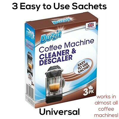 Duzzit Coffee Machine Cleaner & Descaler - 3 Sachets - For Most Coffee Machines