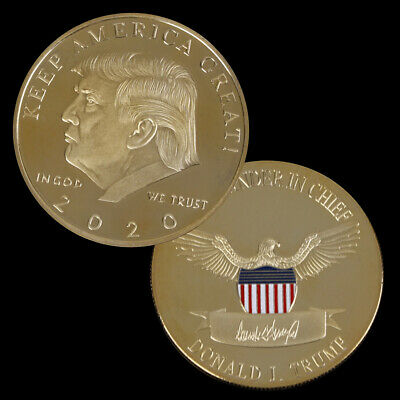 2020 Donald Trump Challenge Coin Gold Plated EAGLE Commemorative Novelty Coin M#