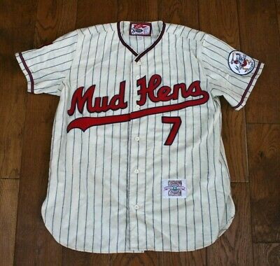 Toledo Mud Hens Cooperstown Professional Baseball Collection Flannel Jersey  L