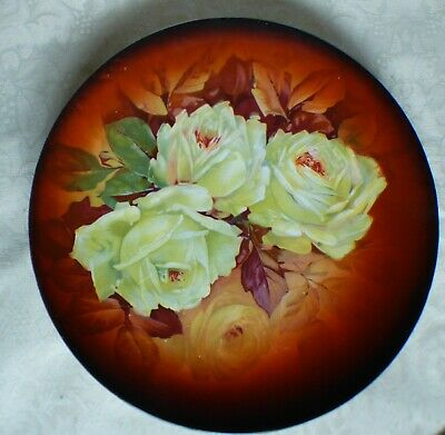 """Vintage TAYLOR SMITH TAYLOR CHINA Plate yellow cabbage roses 9.5"""""""