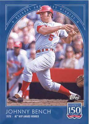 Topps 150 Years of Baseball #82 - Records and Awards: Johnny Bench