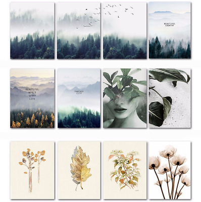 Forest Plant Floral Canvas Wall Picture Nordic Wall Art Poster Home Office Decor
