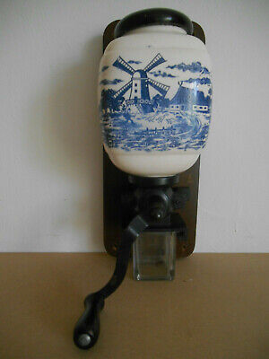 moulin a café mural style delft wall coffee grinder old delft style