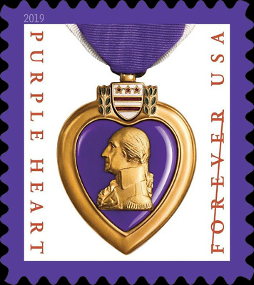 *NEW*  2019 Purple Heart (Single) 2019 Mint NH (Pre-Order - Ships after 10/4)