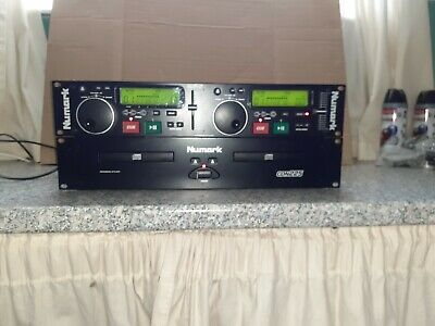 Numark CDN-225 professional dual CD player with controller and manual.