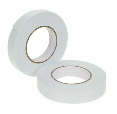 Dovecraft White Foam Craft Card Double Sided Tape Adhesive Roll 1mm Thick