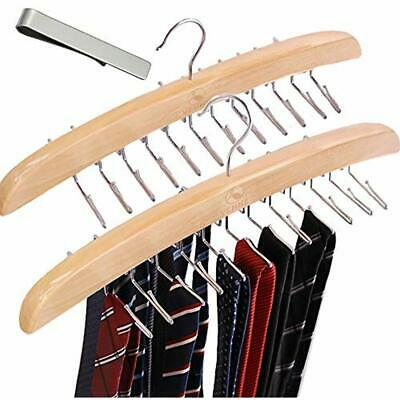 Tie Racks Hanger 2 Pack Wooden Blet Hangers Holder Hooks Organizer Homewares