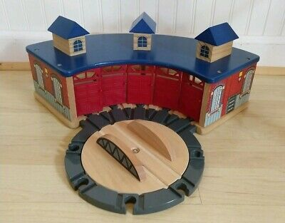 Remarkable Thomas Wooden Railway Train Action Turntable Roundhouse Home Remodeling Inspirations Genioncuboardxyz