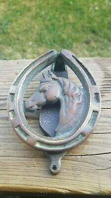 Vintage Bronze/Brass Door Knocker Horse Shoe