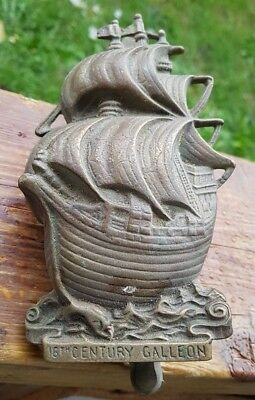 Vintage Bronze/Brass 16th Century Galleon Ship Door Knocker