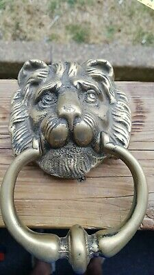 Vintage Solid Lion Head Bronze/ Brass Door Knocker