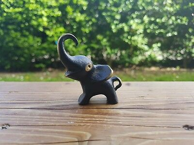 Bronze/ Brass Elephant Miniature/ Figurine/ Desk Ornament