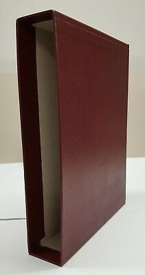 New Burgundy Slip Case to fit Lighthouse or Prinz 64 pp Stock Book