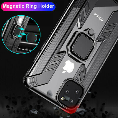 Hybrid Magnetic Ring Holder Armor Case Cover for iPhone 11 Pro Max X XS XR 7 8+