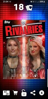 Topps WWE Slam Digital Card 250cc Toni Storm Rhea Ripley Rivalries 2019