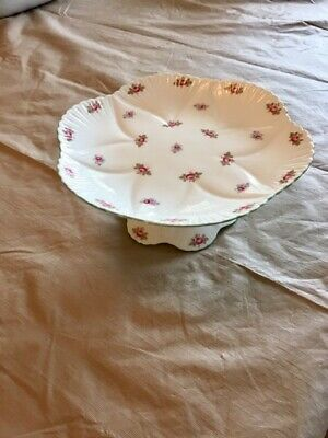 Shelley Plate Stand - rosebud pattern - mint condition no cracks or chips