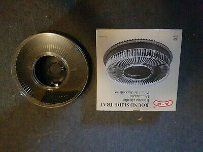 Round Slide Tray A-p Slideshow Projector Carriage 80 slides carousel