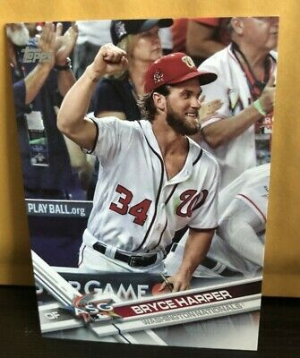 2017 Topps Update Series Bryce Harper Photo Image Variation Nationals #US141 SP