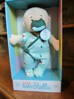 WEE BABY STELLA SOFT BABY DOLL w/magnetic PACIFIER 12m+