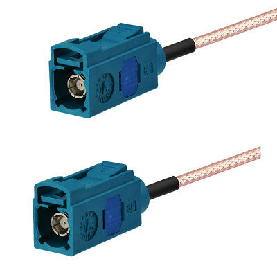 """Fakra Z Jack to Female Extension Cable Pigtail RG174 12"""" for WiFi Neutral Coding"""